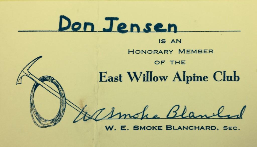 East Willow Alpine Club Card-2
