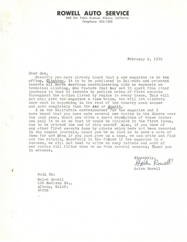 Rowell Letter to Jensen