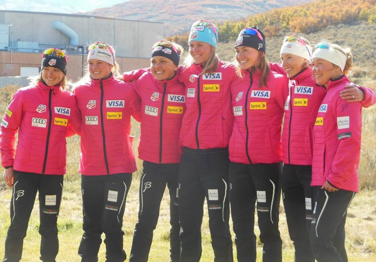The Magnificent Seven athletes of the U.S. Women's XC Ski Team / Noah Hoffman photo