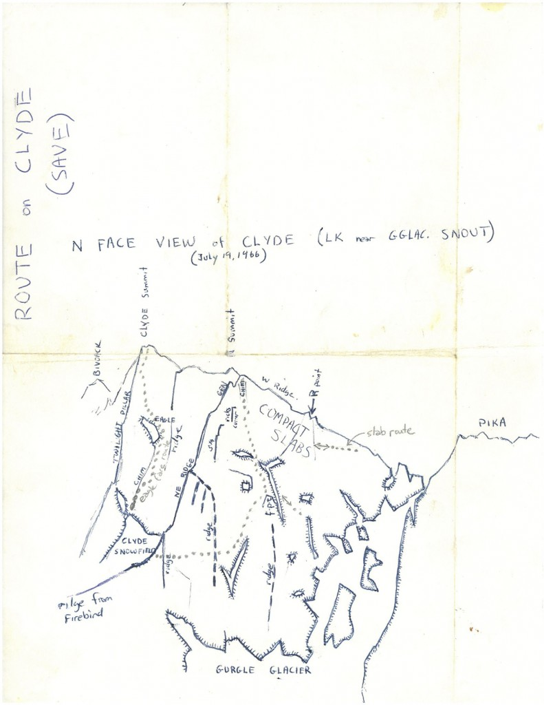 North Face view of Clyde DCJ Sketch